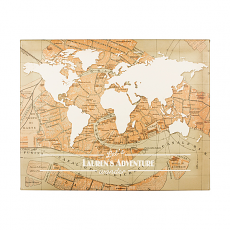 Personalized Travel The World Canvas