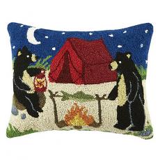 Camping Bears Hook Pillow