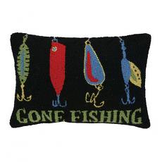 Gone Fishing Hook Pillow