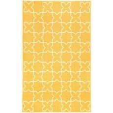 Moroccan Tile Yellow Rug Indoor/ Outdoor Rug