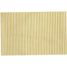 Mini Stripe Yellow Indoor Outdoor Rug