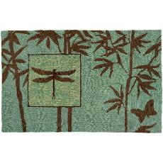 Zen Bamboo  Garden Accent Rug