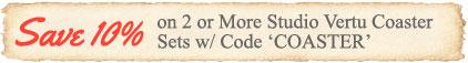 Save 10% on 2 or More Studio Vertu Coasters
