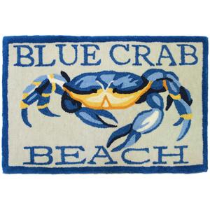 Blue Crab Accent Rug