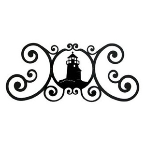 Lighthouse Wrought Iron Doortopper