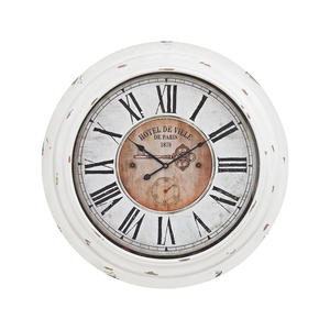 Theodore Wall Clock In Antique White