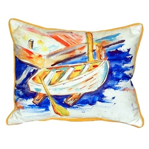 Betsy'S Row Boat Small Indoor/Outdoor Pillow 11X14