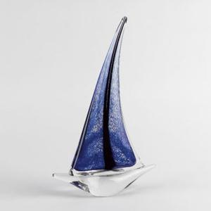 Badash Art Glass Crystal Sailboat Sculpture