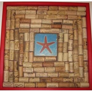 Starfish With Red Wine Cork Board
