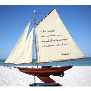 Sailboat Wooden W/Quotation Ii