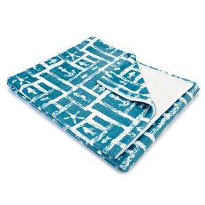 Ocean Squares Fleece Throw Blanket
