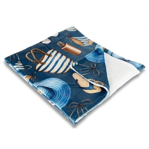 Summer Holiday Fleece Throw Blanket