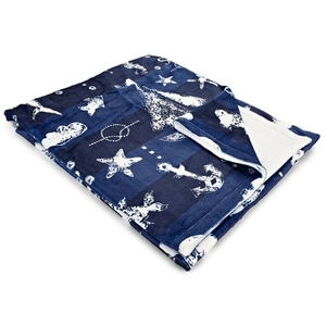 Blue Sea Mix Fleece Throw Blanket