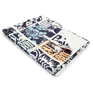 Surfing Patchwork Fleece Throw Blanket
