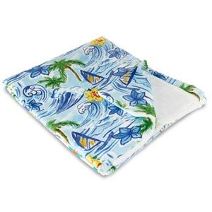 Hawaiian Surf Fleece Throw Blanket