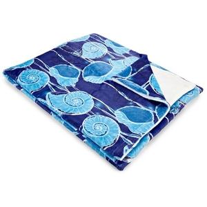 Nautilus Float Fleece Throw Blanket