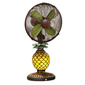 Mosaic Pineapple Table Fan