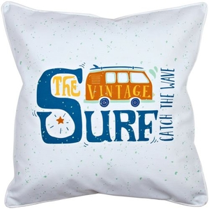 Vintage Surf Van Pillow