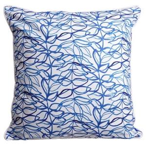 Trailing Vine Blue Pillow