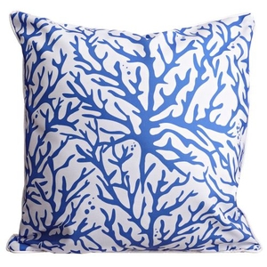 Coral Cobalt Pillow