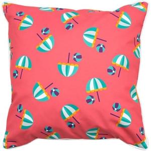 Umbrellas & Beach Balls Pillow