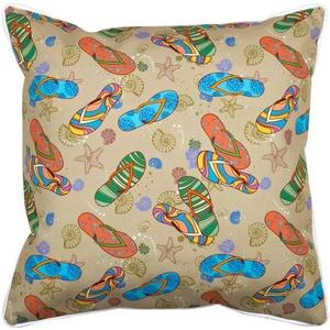 Beach Flip Flops Pillow