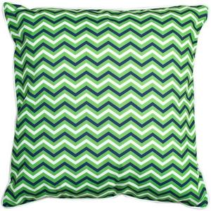 Big Pine - Compass Rose Green & Chevron Pillow