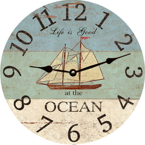 Ocean Personalized Wall Clock