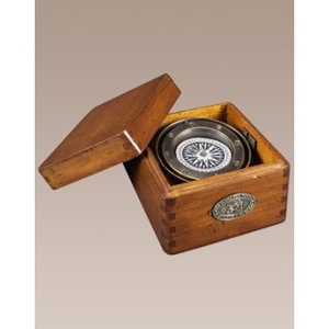 Lifeboat Compass In Wood Box