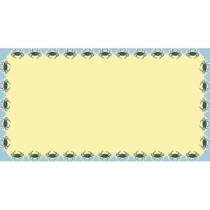 Crab Rectangle Table Cloth