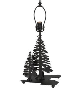 "14""H Tall Pines Double Lit Table Base"