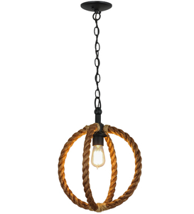 "14""W Cilindro Bola Rope Pendant"