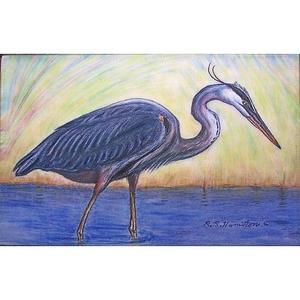 Blue Heron Door Mat