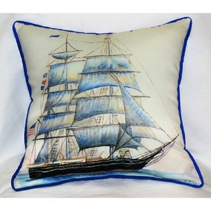 Whaling Ship Indoor Outdoor Pillow