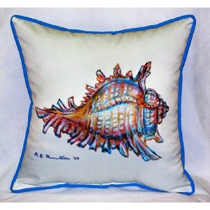 Conch Shell Outdoor Pillow