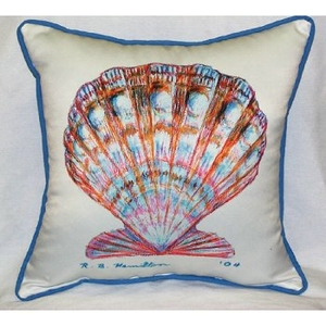 Scallop Shell Outdoor Pillow