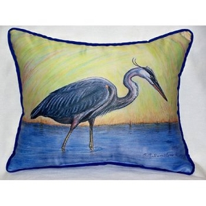 Blue Heron Indoor Outdoor Pillow