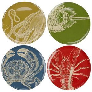 Sealife Melamine Dinner Plates