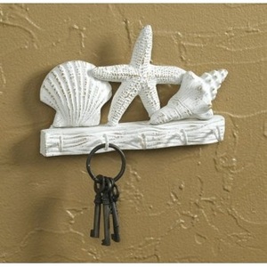 Shell Key Holder With Hooks