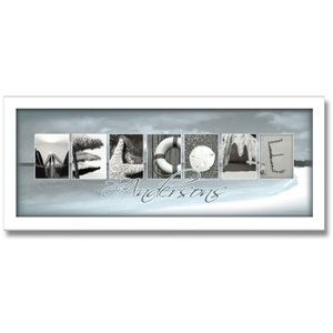 Welcome'' Beach Letter Art Framed Personalized Artwork