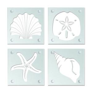 Shell Current Glass Coaster Set