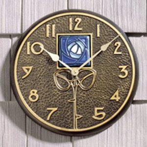 Blue Dard Hunter Rose Clock