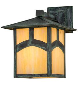 """9""""W Seneca Hill Top Solid Mount Wall Sconce"""