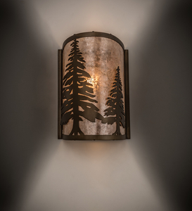 """8""""W Tall Pines Wall Sconce"""