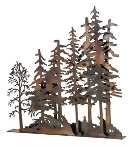 """31""""L X 30""""H Tall Pines Window Art"""