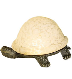 "4""H Turtle Art Glass Accent Lamp"