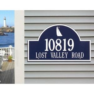 Sailboat Arch Address Plaque