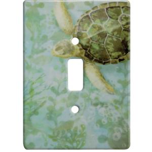 Sea Turtle Ceramic Single Switch Wall Plate