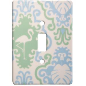 Flamingo Decor Ceramic Single Switch Wall Plate