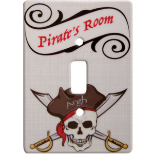 Pirate Ceramic Single Switch Wall Plate